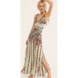 Free People NWT Claire Printed Maxi Dress Large